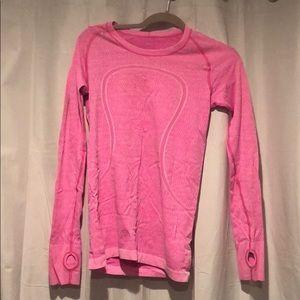 LULULEMON neon pink swiftly long sleeve.
